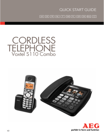 CORDLESS TELEPHONE - Link to AEG