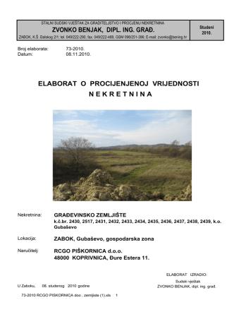 73-2010 RCGO PISKORNICA doo , zemljiste (1)