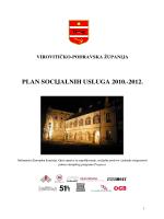 plan socijalnih usluga 2010.-2012. - Centar za socijalnu skrb Virovitica
