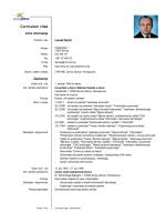 Curriculum vitae - Politehnički fakultet Univerziteta u Zenici
