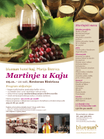 Martinjski menu - Bluesun Hotel Kaj