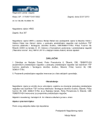 Zaključak o imenovanju povjerenika predstečajne nagodbe
