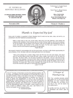 2014 November monthly newsletter - St. Nicholas Greek Orthodox