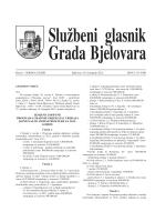 Službeni glasnik Grada Bjelovara br. 6/2012.