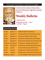 Weekly Bulletin - Annunciation Greek Orthodox Cathedral Of New