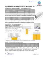 Zidna ploča G2/0,40 600x250x125 – ZPL 12.5
