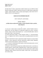 J A V N IP O Z I V - Agencija za poljoprivredno zemljište