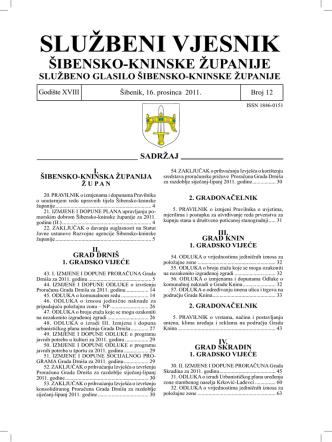12/11 - Šibensko-kninska županija