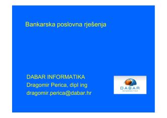 Bankarska poslovna rješenja