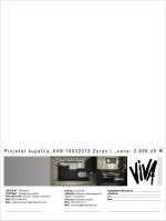 Cenovnik Da pogledate glavni projekat kupatila INJAC