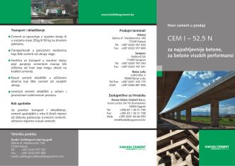 CEM I – 52,5 N