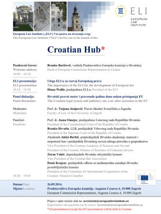 Croatian Hub* - European Law Institute