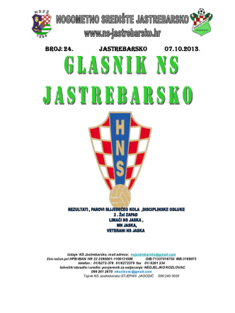 2.županijska liga zapad 2013-2014