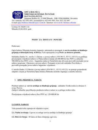 23.04.2014. Poziv za dostavu ponude
