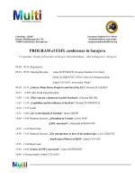 PROGRAM of ESFL conference in Sarajevo