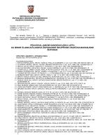 pravovaljanom kandidacijsku listu za izbor članica/članova