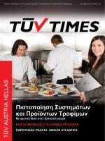 TÜV TIMES No.12 - TUV Austria Hellas