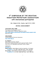 9 SYMPOSIUM OF THE CROATIAN RADIATION