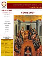 June 2014 - Annunciation Greek Orthodox Church