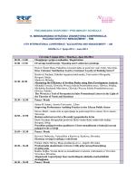 preliminarni raspored / preliminary schedule 15. međunarodna