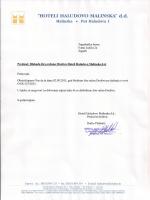 """""""HOTELI HALUDOVO MALINSKA"""" d.d."""