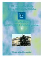 KURIKUL 2013.2014.pdf - Ekonomska škola Mije Mirkovića Rijeka