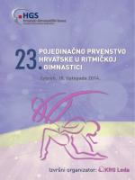 pojedinačno prvenstvo hrvatske u ritmičkoj gimnastici
