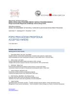 List of accepted papers - ECOVAST hrvatska sekcija
