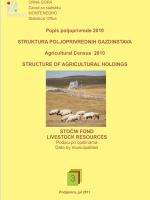 Struktura poljoprivrednih gazdinstava - stočni fond