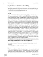 Νευρολογικές εκδηλώσεις νόσου Fabry Neurological manifestations