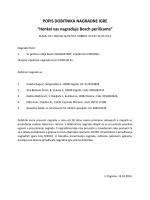 """POPIS DOBITNIKA NAGRADNE IGRE """"Henkel vas nagrađuje Bosch"""