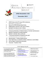 Newsletter 14 - Greek Politics Specialist Group