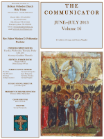 June - July 2013 Volume 16 - holy trinity greek orthodox church