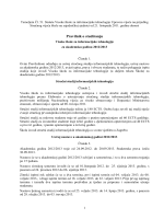 Pravilnik o studiranju - Visoka škola za informacijske tehnologije
