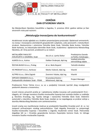 Dan otvorenih vrata MF_5.12.2014._IZVJESCE