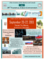 September 20-22, 2013 - Chios Societies of the Americas & Canada