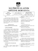 """""""Službeni glasnik opštine Derventa"""", broj : 11/13"""