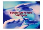Samozaštita na radu - JU Dom zdravlja Kantona Sarajevo
