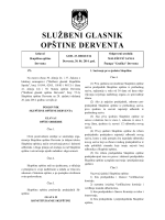 """""""Službeni glasnik opštine Derventa"""", broj: 8/14"""