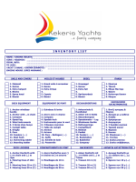 Kekeris Yachts Inventory List