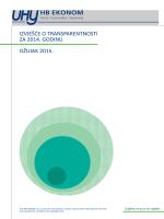 uhy hb ekonom - izvješće o transparentnosti za 2014. godinu.