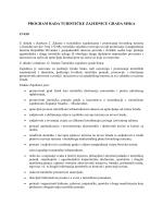 Program rada TZG Siska za 2015. godinu