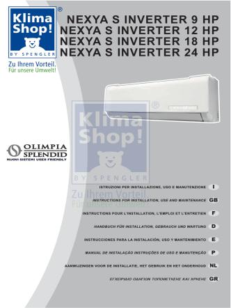 270036A MANUALE NEXYA S INVERTER 9-12-18