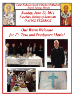 Our Warm Welcome for Fr. Taso and Presbytera Maria!