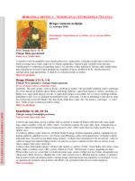 BIBLIJSKA RIZNICA - NEDJELJNA LITURGIJSKA ČITANJA