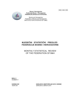 BiltenF 03-15 - Federalni zavod za statistiku
