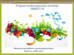 Anka Javora: URBACT III - Ministarstvo graditeljstva i prostornog
