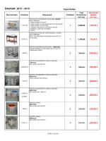 BAZAAR 2013 - 2014 294,00 € 190,00 € 160,00 € 183