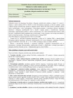 Standardni obrazac sadržaja dokumenta za savjetovanje