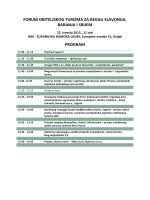forum obiteljskog turizma za regiju slavonija, baranja i srijem program